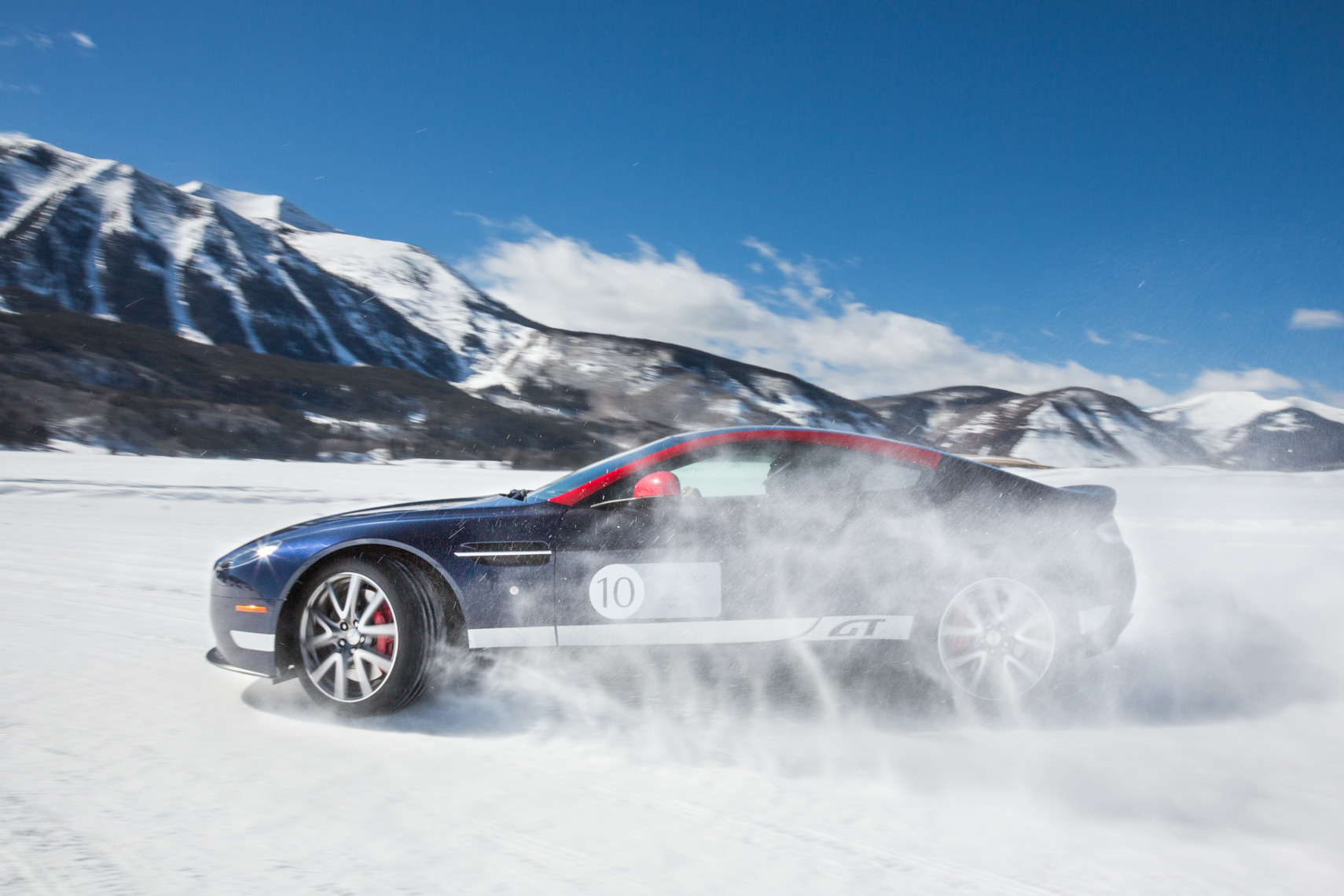 The Aston Martin On Ice Driving Experience in Crested Butte, Colorado.